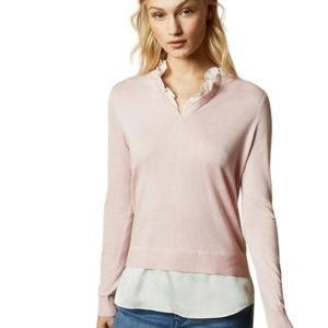 Pink Ted Baker ILINAA V layer jumper and blouse